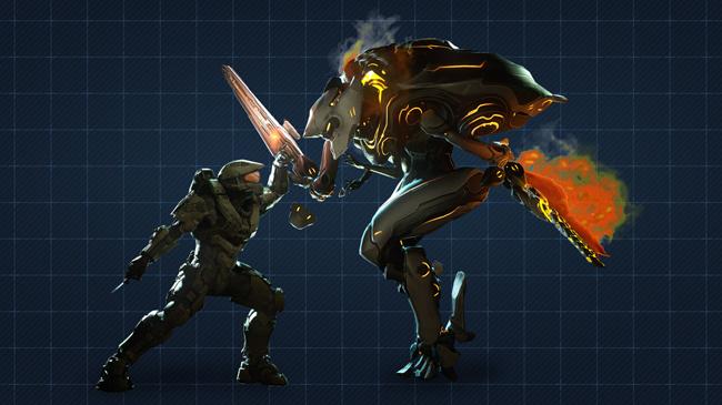 Halo 4 | Chief VS Knight by Goyo-Noble-141