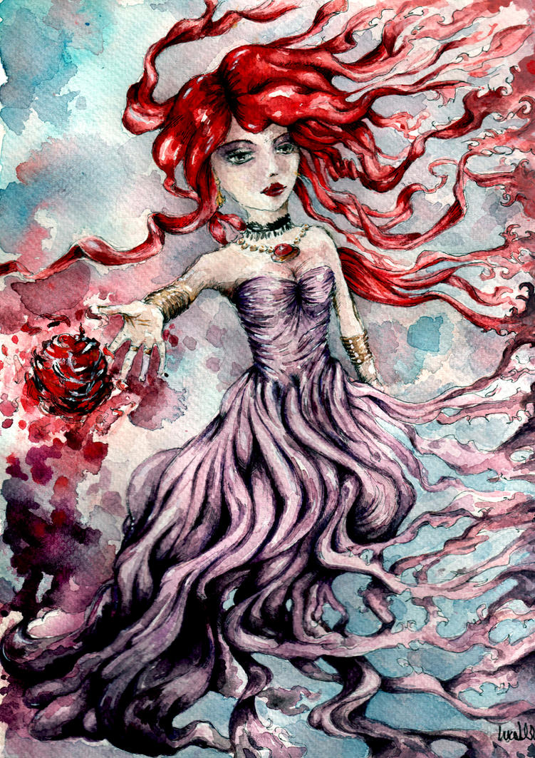 Rheane - Fire hair sorceress by verda83