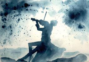 Violin rain by verda83