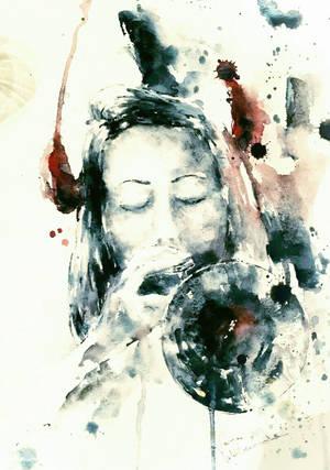 Nella Bolla (Trumpet Woman) by verda83