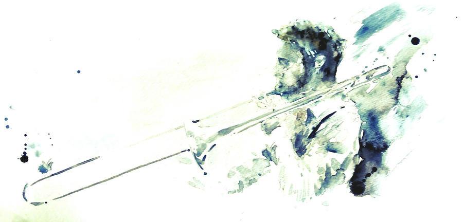 Nel salto - Trombone man by verda83