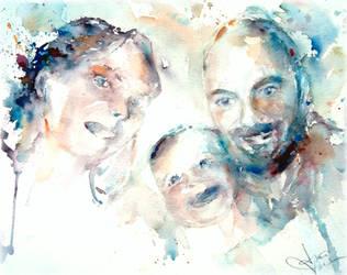 Happy family by verda83