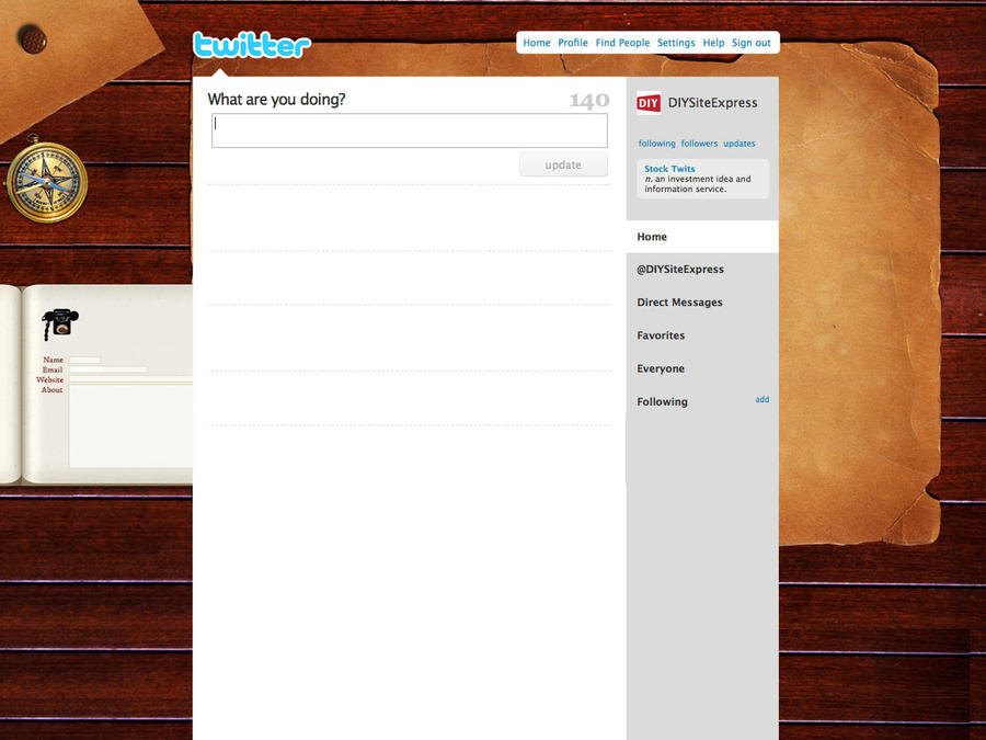 Wooden Twitter Background by NarjisNaqvi