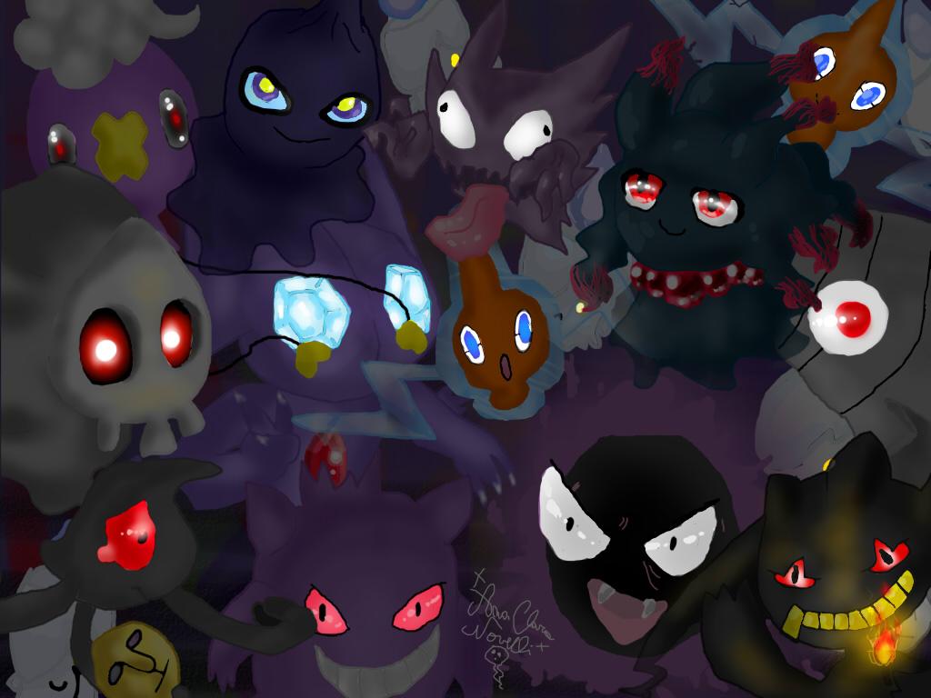 Phantom pokemons by ChibiWendy