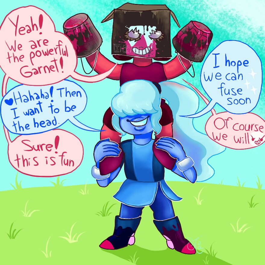 Beach city bugle drawing things out 79 - Ruby and sapphire su ...