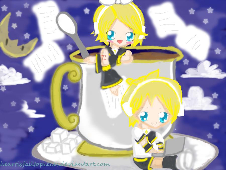 Len Kagamine Hot Cocoa Kagamine twins: hot cocoa tea by