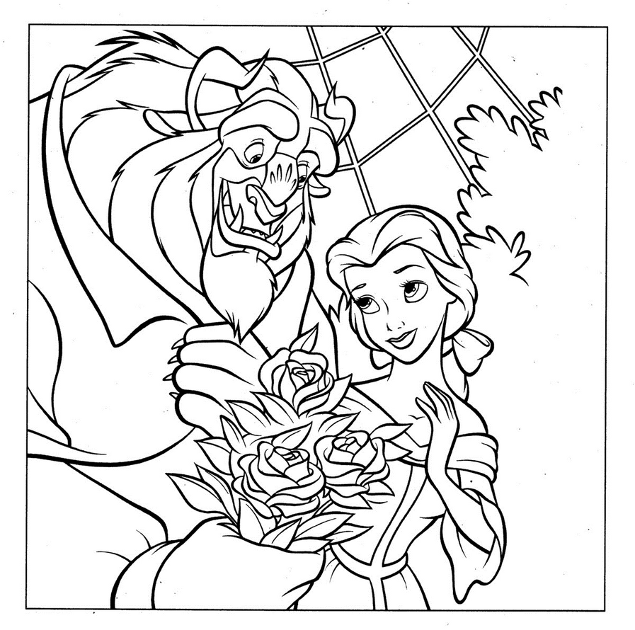 Disney Princess Belle And Beast By Writer Colorer