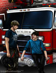 Merlin - Fire fighter AU series - (part 5 of a 5)