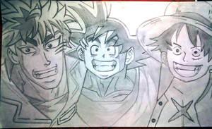 Goku X Toriko X Monkey D .Luffy Crossover