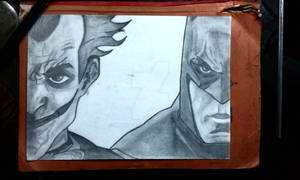 Batman and Joker portrait