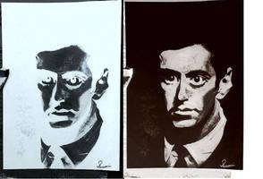 Al Pacino Inverted Sketch