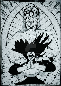 Hashirama Senju - Shinssusenju (Manga Panel)