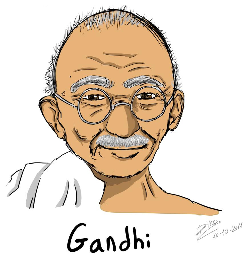 Gandhi by dinamata