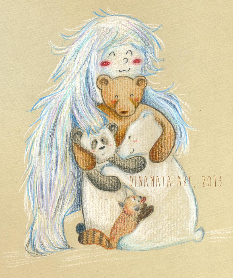 Bears, pandas and a yeti :) by dinamata