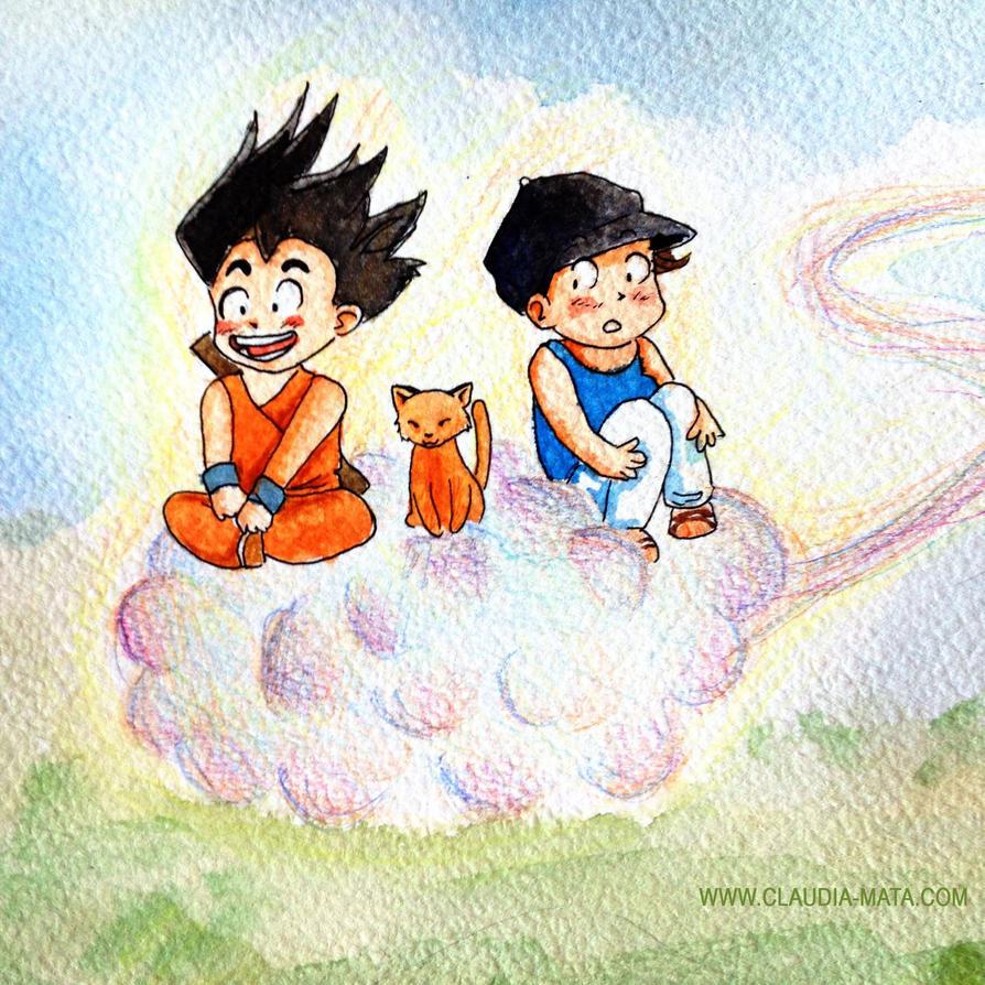 Goku, kyo and Lucie by dinamata