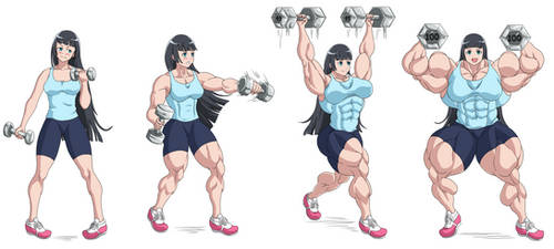 How Much Heavy Dumbbells Can You Lift? - Akemi by FudgeX02