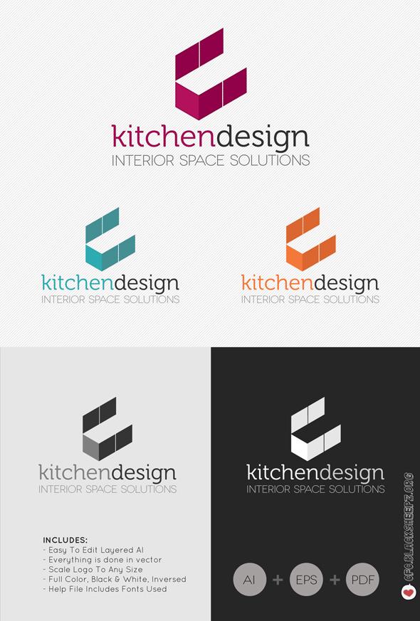 Kitchen design logo by c f c on deviantart for Kitchen designs logo