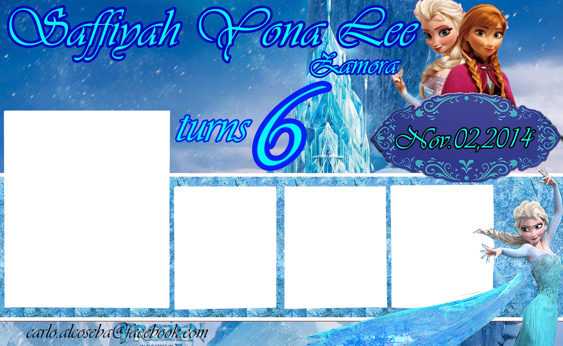 Frozen Birthday Tarpaulin Lay-out by carlo1official on