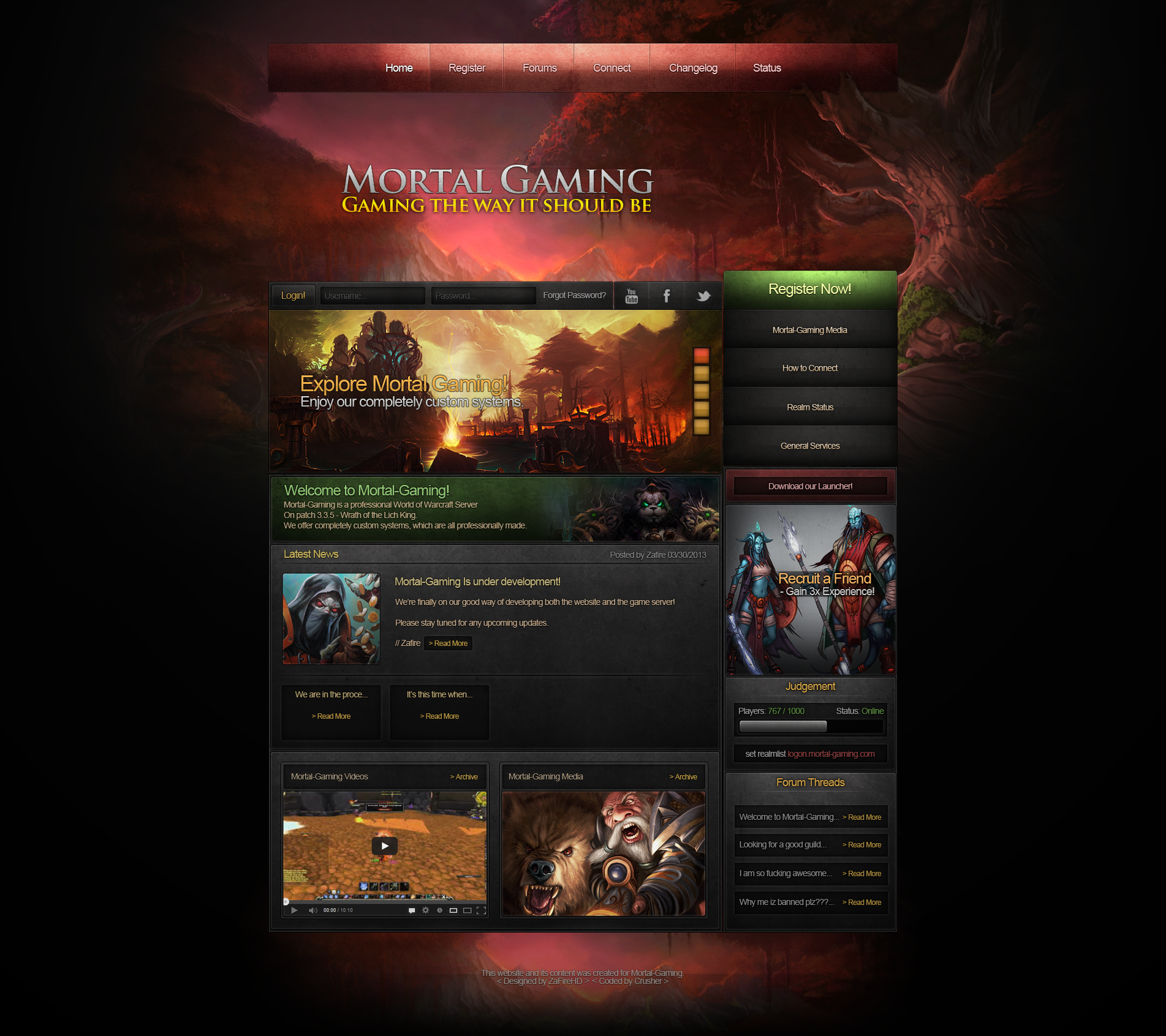 Mortal Gaming Website Design by ZafireHD on DeviantArt