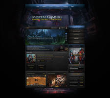 Mortal Gaming Website Design [Blue Edition] by ZafireHD