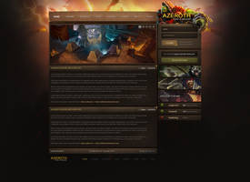 Azeroth Warcraft Web Design by ZafireHD
