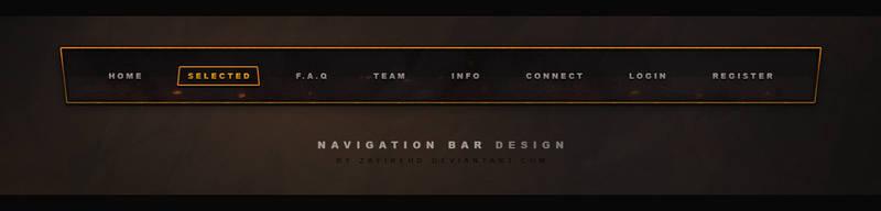 Free Gaming Navigation bar by ZafireHD