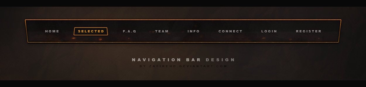 Free Gaming Navigation bar by ZafireHD