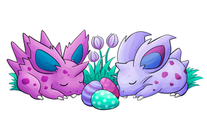 sleepy spiky buns by ArchaosTeryx