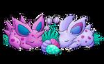 sleepy spiky buns