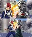 BNHA   Shoto Todoroki vs Tetsutetsu Tetsutetsu
