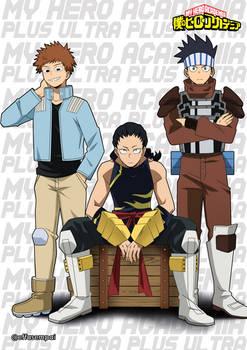 BNHA 1B| Kosei Tsuburaba, Hiryu Rin, Yosetsu Awase