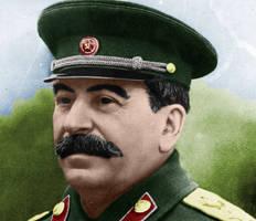 Colourised Joseph Stalin by HarrisW