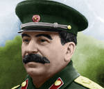 Colourised Joseph Stalin