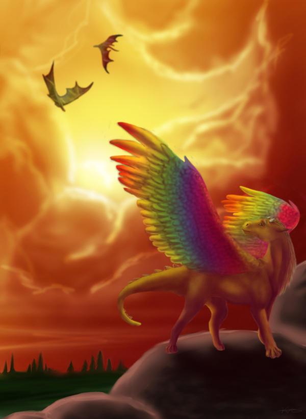 Where dragons roam by GoldenPhoenix100