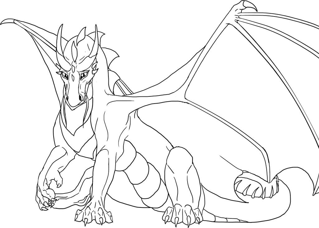 free lineart dragon by golphee on deviantart rh deviantart com free line art downloads free line art workshop