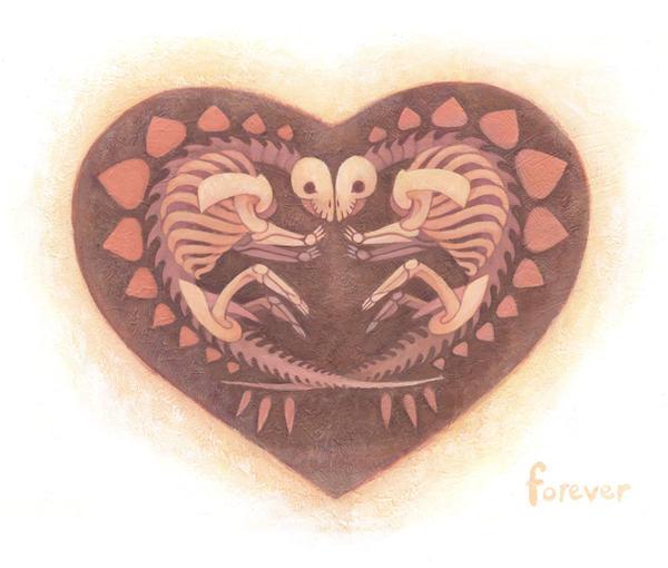 Dinosaur Love 2 by redredundance