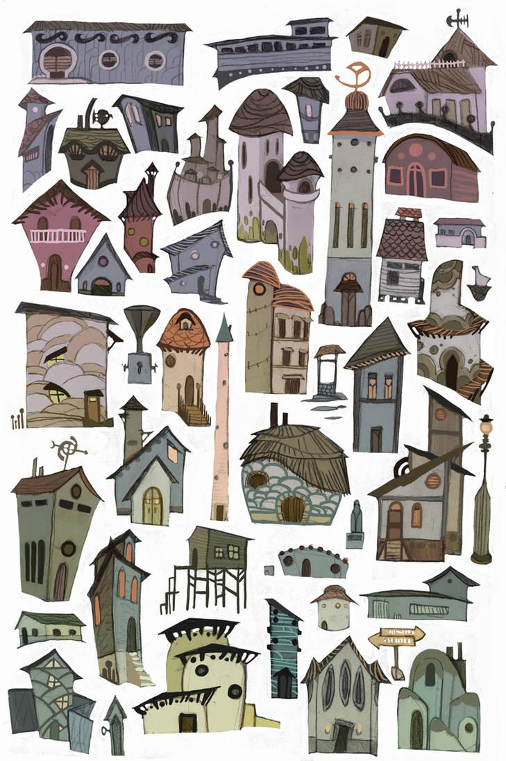 Buildings by redredundance