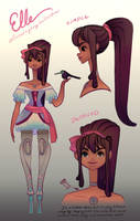 Elle Reference sheet by redredundance