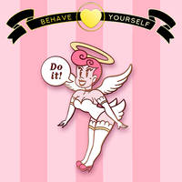 Behave Yourself: Audacious Angel Pin Design