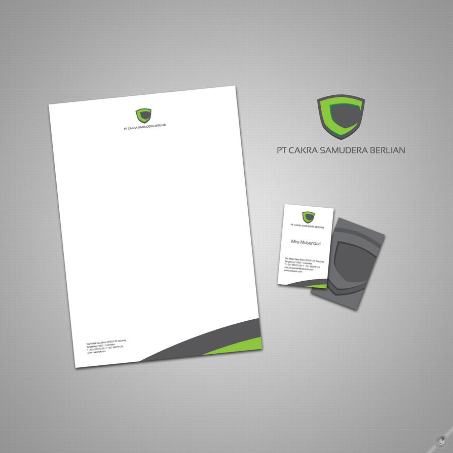 A Creative Corporate Letterhead For Dealing Business With: Logo Letterhead Business By