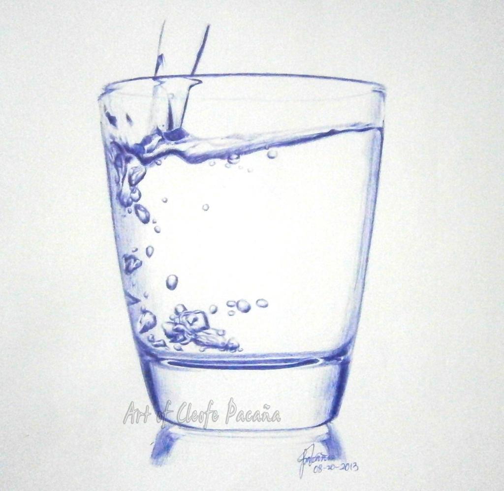 Glass of Water by cLoELaLi11 on DeviantArt