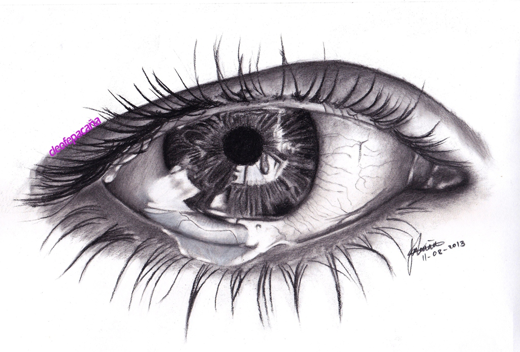 A Sad Eye Scanned Version By Cloelali11 On Deviantart