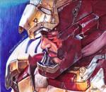 Tony Stark Colored Ballpoint Pen Drawing