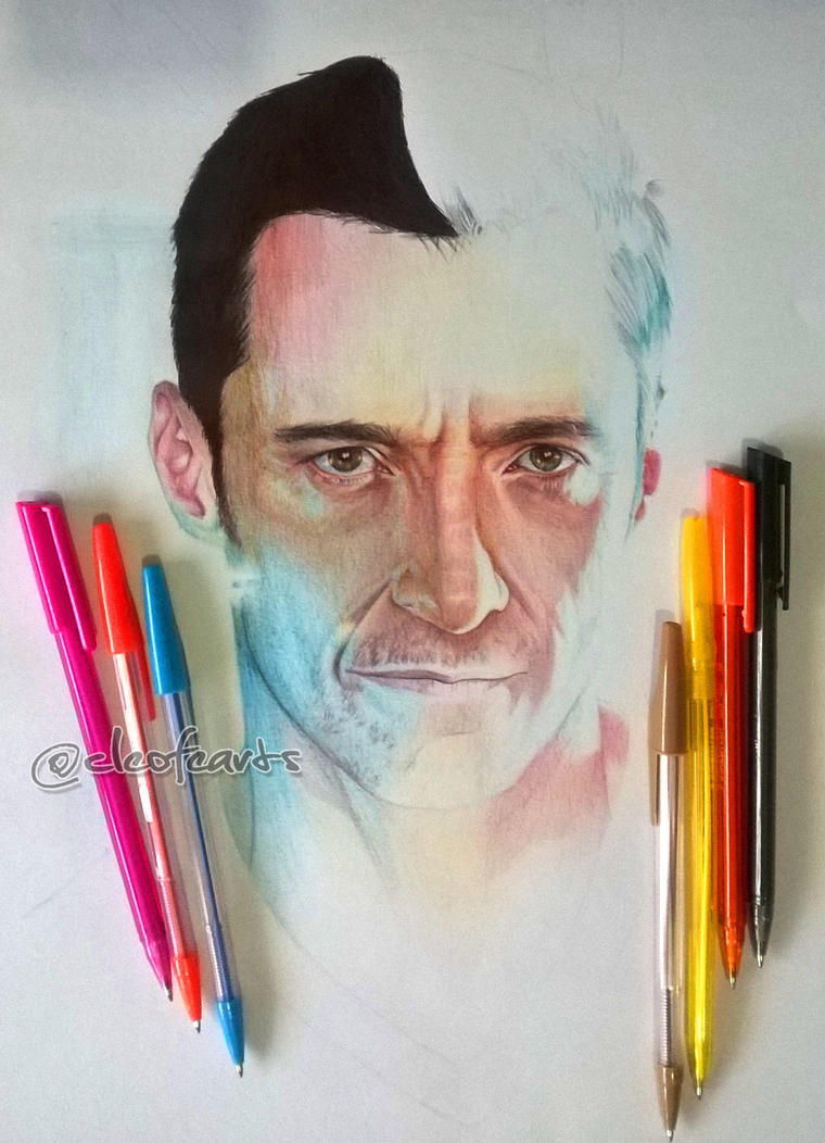 Multi colored ballpoint pen drawing wip by cloelali11 on for Easy colour sketch pen drawings