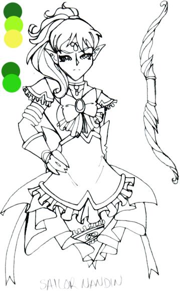 Tindome Senshi: Sailor Nandin by xxkorinxx