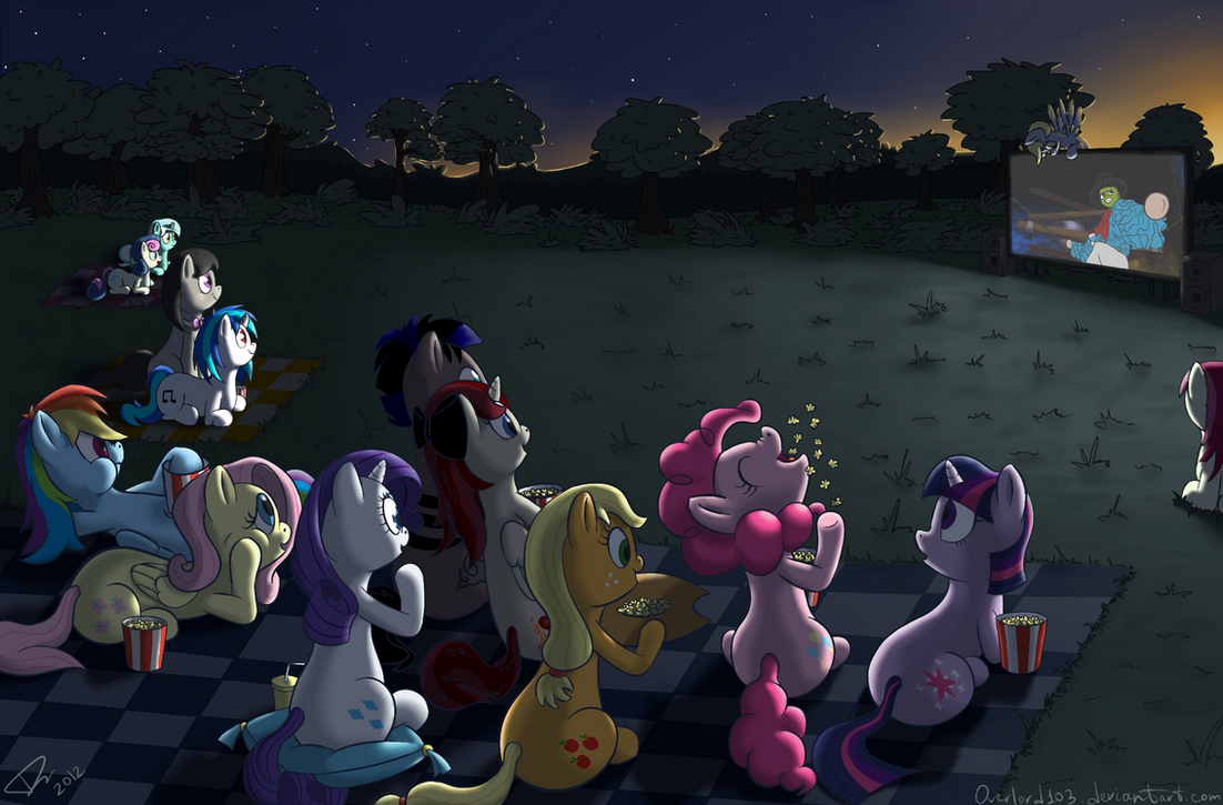 Movie Night By Dracodile On DeviantArt