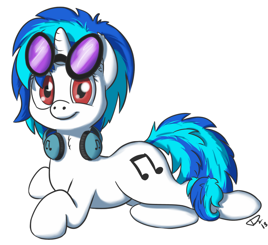 Request: Vinyl Scratch by Dracodile