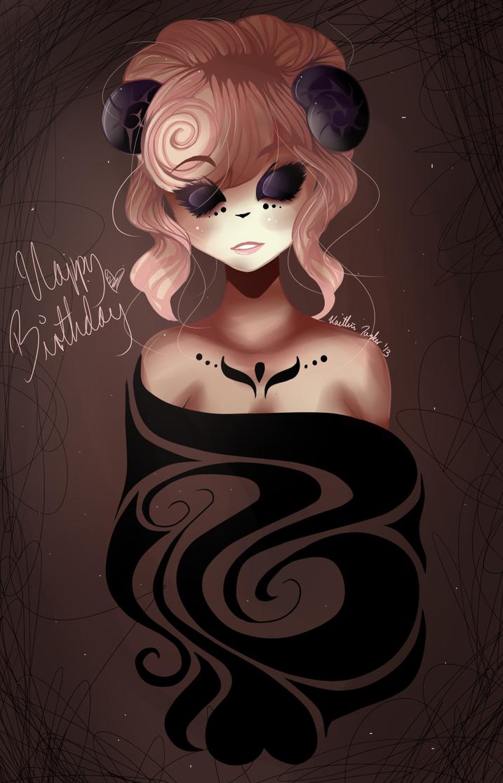 happy superlate birthday miribum c: by madam-top-hat