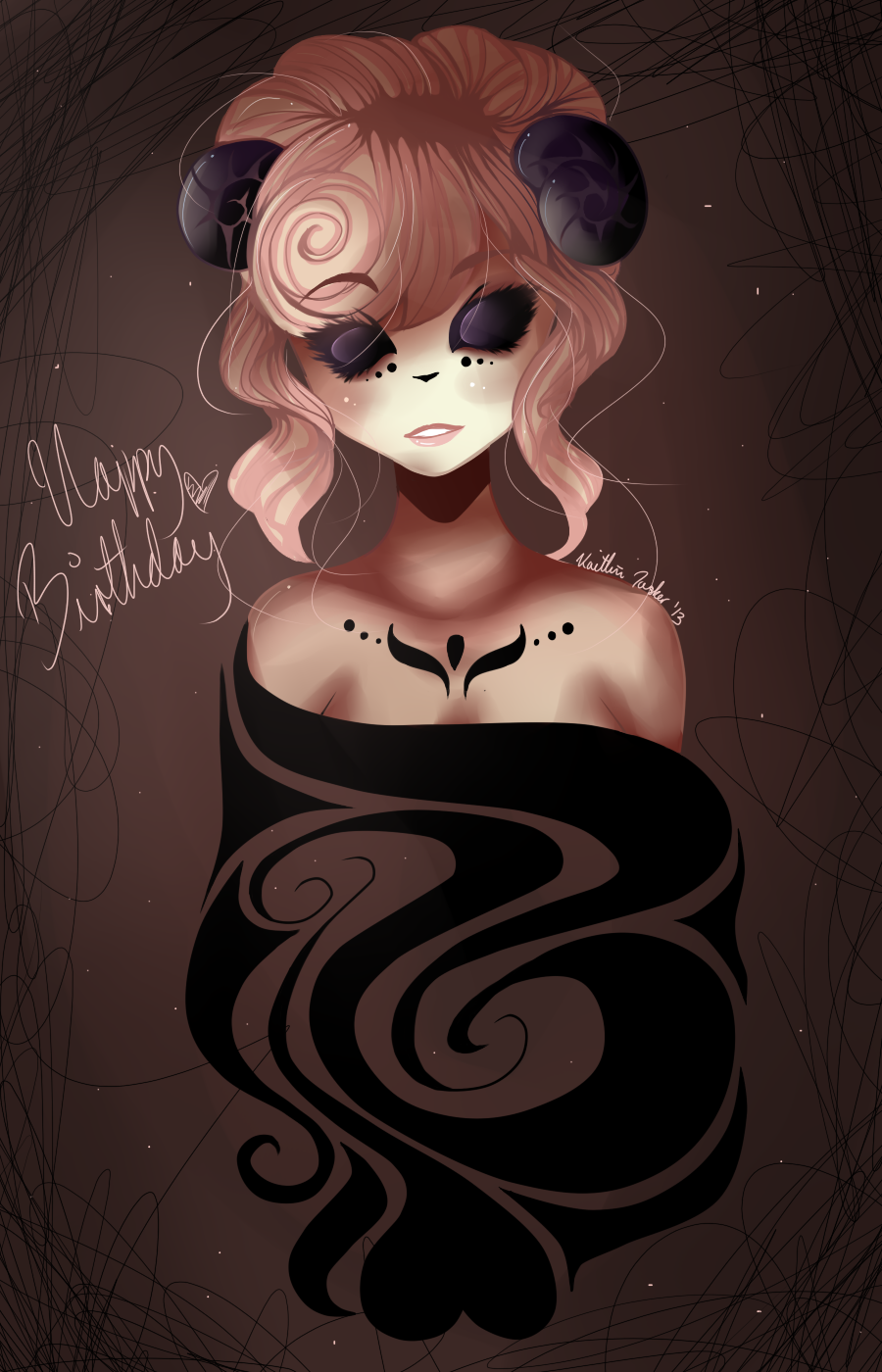 happy superlate birthday miribum c: by sad-soup