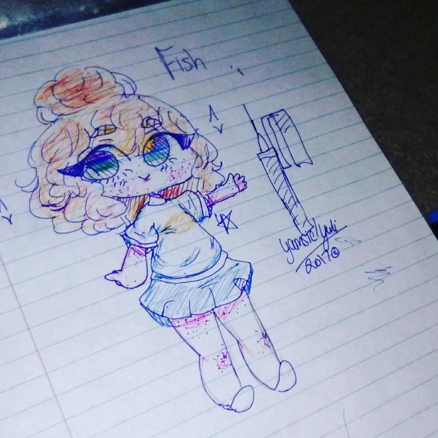 doodle of fish by YukiSane1001